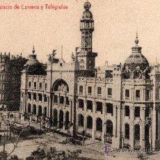Postales: VALENCIA, PALACIO DE CORREOS Y TELÉGRAFOS, FOTOT. THOMAS, 1924. Lote 31740110