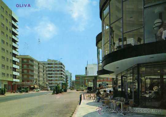 OLIVA VALENCIA Nº 10 ENTRADA A LA CIUDAD EDICIONES ARRIBAS ESCRITA CIRCULADA SELLO (Postales - España - Comunidad Valenciana Moderna (desde 1940))