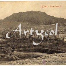 Postales: BONITA Y RARA POSTAL - JIJONA (ALICANTE) - VISTA GENERAL DE LA POBLACION . Lote 32191189