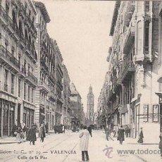 Postales: VALENCIA: CALLE DE LA PAZ. EDITOR: L.C.. Nº 29, CIRCULADA EN 1907, VER DORSO. . Lote 32328103