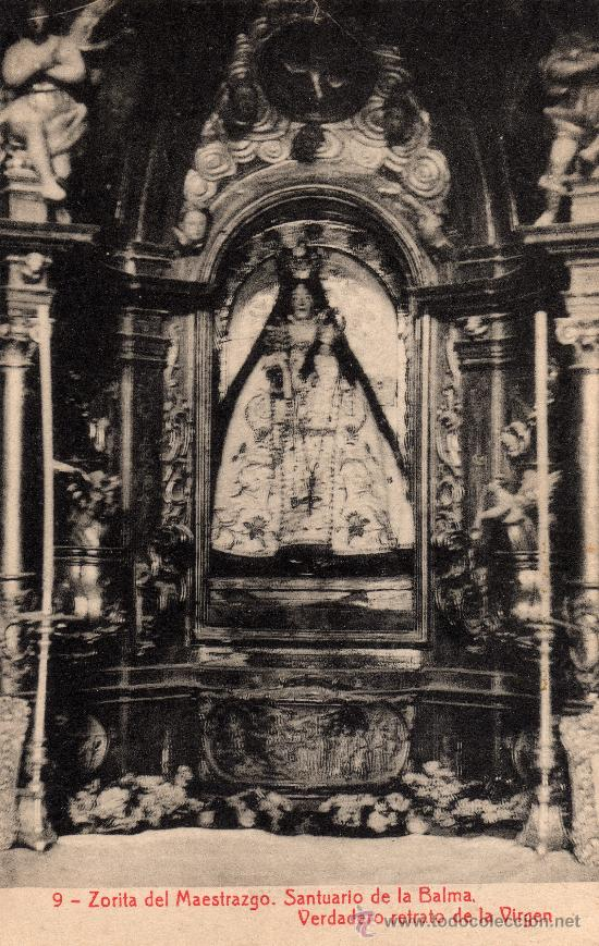 ZORITA DEL MAESTRAZGO, CASTELLÓN, SANTUARIO DE LA BALMA, RETRATO DE LA VIRGEN, FOTOT. THOMAS (Postales - España - Comunidad Valenciana Antigua (hasta 1939))