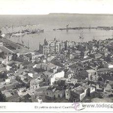 Postales: PS0115 ALICANTE 'EL PUERTO DESDE EL CASTILLO'. POSTAL FOTOGRÁFICA. L. ROISÍN. CIRCULADA EN 1945. Lote 32405502