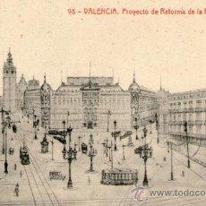 Postales: CURIOSISIMA POSTAL DE PROYECTO DE REFORMA DE PLAZA DE LA REINA. Lote 32424070