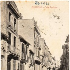 Postales: BURRIANA, CALLE ROCHERA, CASTAÑEIRA Y ALVAREZ, CIRCULADA. Lote 32611075