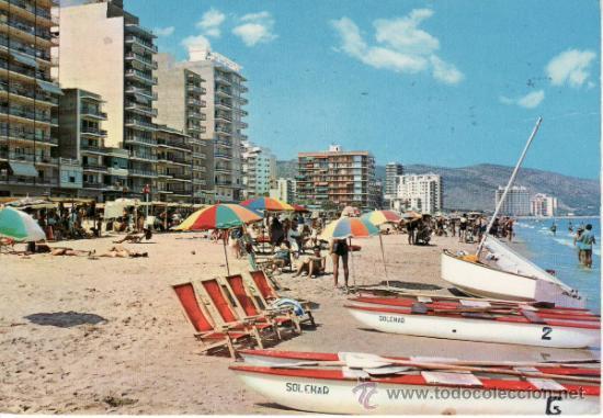 POSTALES. CULLERA. PLAYA. COMUNIDAD VALENCIANA. ESPAÑA. RASTRILLO PORTOBELLO. (Postales - España - Comunidad Valenciana Moderna (desde 1940))