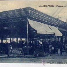 Postales: ALICANTE. 29. MERCADO DE HORTALIZAS. PAPELERIA MARIMON. SIN CIRCULAR.. Lote 32851161