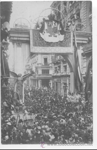POSTAL FOTOGRÁFICA. FALLAS DE VALENCIA. SIN CIRCULAR. (Postales - España - Comunidad Valenciana Antigua (hasta 1939))
