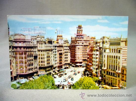 TARJETA POSTAL, POSTAL, VALENCIA, PLAZA DEL CAUDILLO, SERIE 19, Nº 14 (Postales - España - Comunidad Valenciana Moderna (desde 1940))
