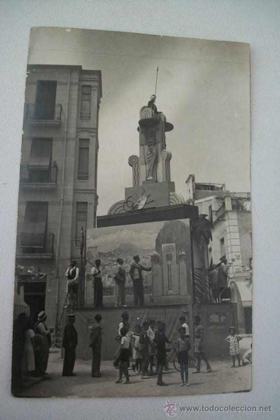 FOGUERES DE SAN CHUAN-FOTO SÁNCHEZ, ALICANTE- S/F (Postales - España - Comunidad Valenciana Antigua (hasta 1939))