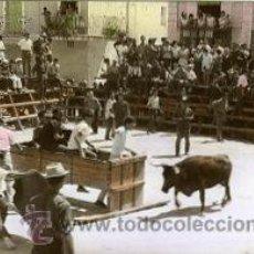 Postales: TORREBLANCA (CASTELLON).- CORRIDA DE TOROS-FIESTAS DE AGOSTO.- B/N COLOREADA A MANO. FOTOGRÁFICA.. Lote 38322533