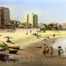 Postales: TORREBLANCA-TORRENOSTRA (CASTELLON).- PLAYA AZAR.- B/N COLOREADA A MANO.- EDICIONES FOTOS BARBERA.. Lote 35614285