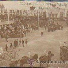 Postales: TARJETA POSTAL FOTOGRAFICA VALENCIA - EXPOSICION REGIONAL VALENCIANA. BATALLA DE FLORES. Nº 9. Lote 34179317