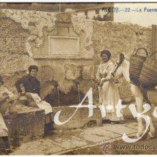 Postales: MAGNIFICA POSTAL - ALCOY (ALICANTE) - LA FUENTE DE ALGEZARES - CHICAS CON CANTAROS Y JARROS, BURRO . Lote 34219492