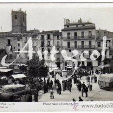 Postales: BONITA Y RARA POSTAL - VILLAJOYOSA (ALICANTE) - PLAZA NUEVA ESPAÑA - MUY AMBIENTADA - MERCADO . Lote 34221441
