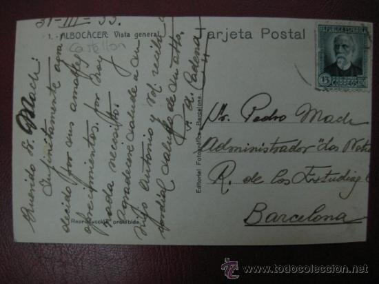 Postales: ALBOCACER - VISTA GENERAL - FOTOGRAFICA - Foto 2 - 34248980