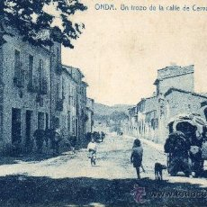 Postales: ONDA. UN TROZO DE LA CALLE DE CERVANTES. THOMAS. Lote 34499002