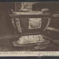 Postales: ORIHUELA - COLEGIO DE SANTO DOMINGO- 7- SEPULCRO DEL FUNDADOR - (11.890). Lote 34790403