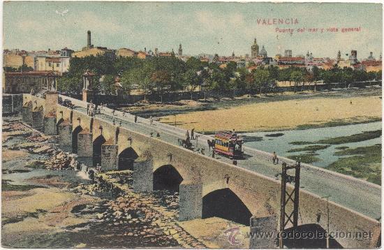 VALENCIA.- PUENTE DEL MAR Y VISTA GENERAL. (Postales - España - Comunidad Valenciana Antigua (hasta 1939))