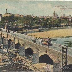 Postales: VALENCIA.- PUENTE DEL MAR Y VISTA GENERAL.. Lote 35110421