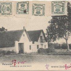 Postales: VALENCIA.- BARRACAS VALENCIANAS. (C.1905).. Lote 35117392
