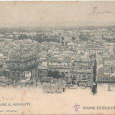 Postales: VALENCIA.- VISTA DESDE EL MIGUELETE. (C.1905).. Lote 35117478