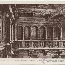 Postales: VALENCIA.- PALACIO DE LA GENERALIDAD. SALÓN DE CORTES.. Lote 35118624