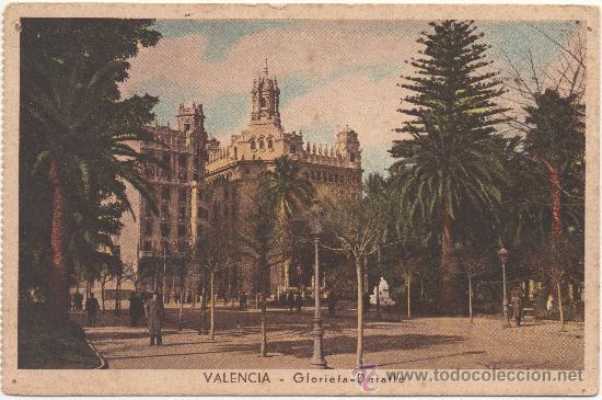 VALENCIA.- GLORIETA - DETALLE. (Postales - España - Comunidad Valenciana Antigua (hasta 1939))
