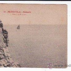 Postales: 14 PEÑISCOLA CASTELLÓN BALUARTE L.ROISIN BARCELONA (SIN CIRCULAR). Lote 35135725