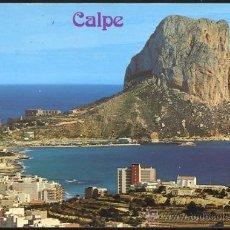 Postales: CALPE (ALICANTE).- VISTA PARCIAL Y PEÑON DE IFACH. Lote 35582684