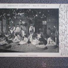 Postales: POSTAL AÑO 1907 EMBALANDO NARANJAS COLECCIÓN CANOVAS. Lote 35588584
