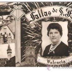 Postales: VALENCIA. FALLAS. ESCRITA EN 1962. DORSO SIN DIVIDIR.. Lote 35606829
