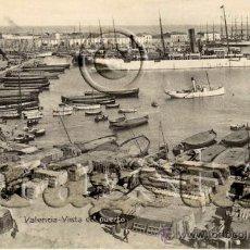 Postales: POSTAL ORIGINAL PUERTO DE VALENCIA. Lote 35658554