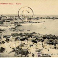 Postales: POSTAL ORIGINAL VISTA GENERAL DEL PUERTO DE VALENCIA. Lote 35659149