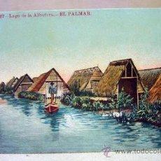 Postales: POSTAL DE VALENCIA, Nº 27, EL PALMAR, LAGO DE LA ALBUFERA. Lote 35789012