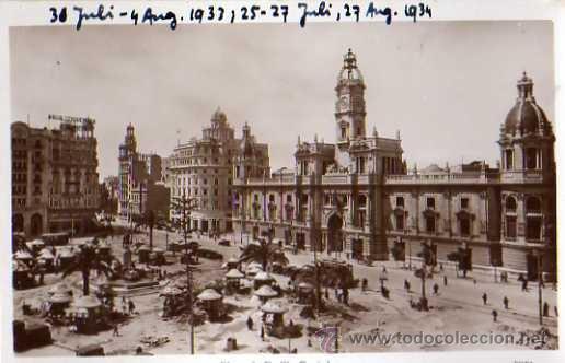 VALENCIA Nº 9 PLAZA DE EMILIO CASTELAR DURA SIN CIRCULAR (Postales - España - Comunidad Valenciana Moderna (desde 1940))