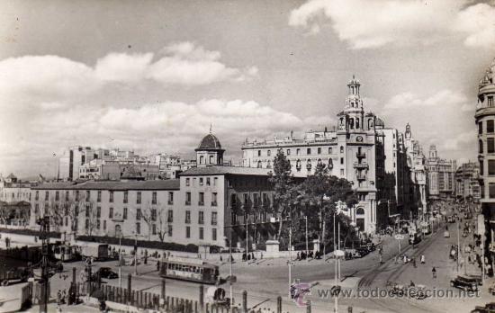 POSTAL DE VALENCIA, CALLE DE JATIVA Y AVENIDA DEL MARQUES DE SOTO,CIRCULADA (Postales - España - Comunidad Valenciana Antigua (hasta 1939))