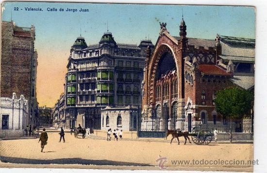 POSTAL DE VALENCIA, CALLE DE GORGE JUAN,NO CIRCULADA (Postales - España - Comunidad Valenciana Antigua (hasta 1939))