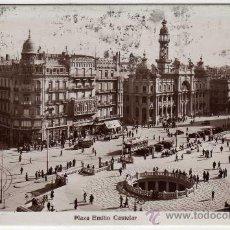 Postales: POSTAL DE VALENCIA, PLAZA EMILIO CASTELAR,CIRCULADA. Lote 36104625