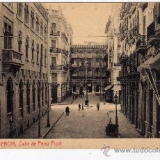 Postales: POSTAL DE VALENCIA,CALLE DE PEREZ PUJOL, NO CIRCULADA. Lote 36122581