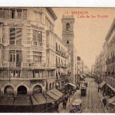 Postales: POSTAL DE VALENCIA,CALLE DE SAN VICENTE, NO CIRCULADA. Lote 36122666