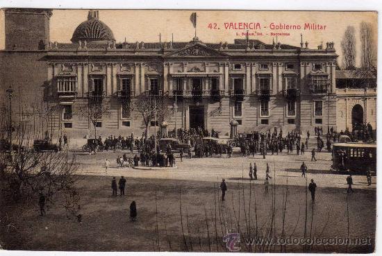POSTAL DE VALENCIA,GOVIERNO MILITAR,CIRCULADA EN EL 1929 (Postales - España - Comunidad Valenciana Antigua (hasta 1939))
