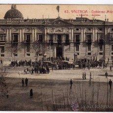 Postales: POSTAL DE VALENCIA,GOVIERNO MILITAR,CIRCULADA EN EL 1929. Lote 36123432