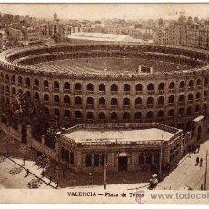 Postales: POSTAL DE VALENCIA, PLAZA DE TOROS, POSTAL CIRCULADA. Lote 36175553