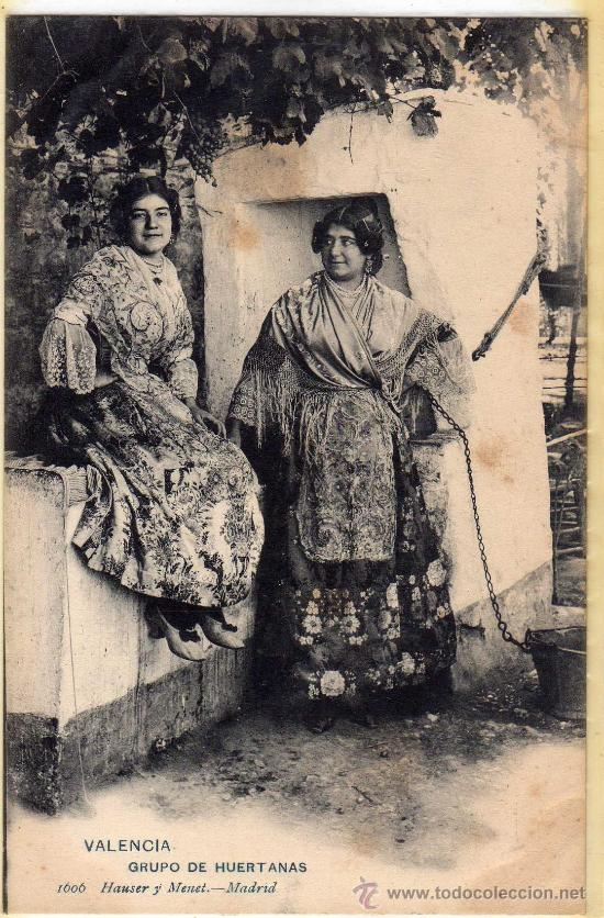 POSTAL DE VALENCIA,GRUPO DE HUERTANAS (Postales - España - Comunidad Valenciana Antigua (hasta 1939))