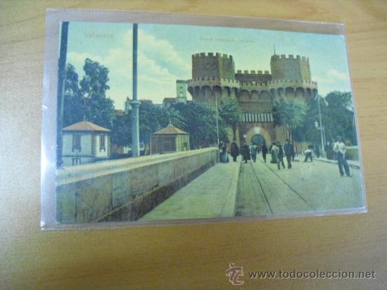 POSTAL DE VALENCIA,PUENTE Y TORRES DE SERRANOS, (Postales - España - Comunidad Valenciana Antigua (hasta 1939))