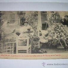 Postales: ANTIGUA POSTAL............VALENCIA.............CONFECCION DE RAMOS DE FLORES DEL HUERTO.. Lote 36272105