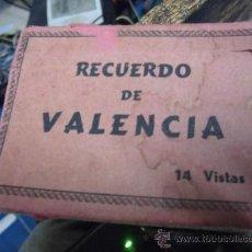Postales: 14 VISTAS DE VALENCIA EN ACORDEON TAMAÑO 9 X 7 CMS EN SEPIA. Lote 36430928
