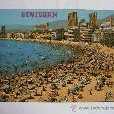 Postales: POSTAL DE BENIDORM (ALICANTE) - Nº143, PLAYA DE PONIENTE (HMNOS GALIANA,1980, SIN CIRCULAR). Lote 36481650