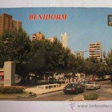 Postales: POSTAL DE BENIDORM (ALICANTE) -Nº313, AVENIDA MEDITERRANEA (SUBIRATS, AÑOS 90 APROX, SIN CIRCULAR). Lote 36481752