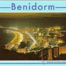 Postales: BENIDORM (ALICANTE), VISTA NOCTURNA - HNOS. GALIANA - SIN CIRCULAR. Lote 36514777